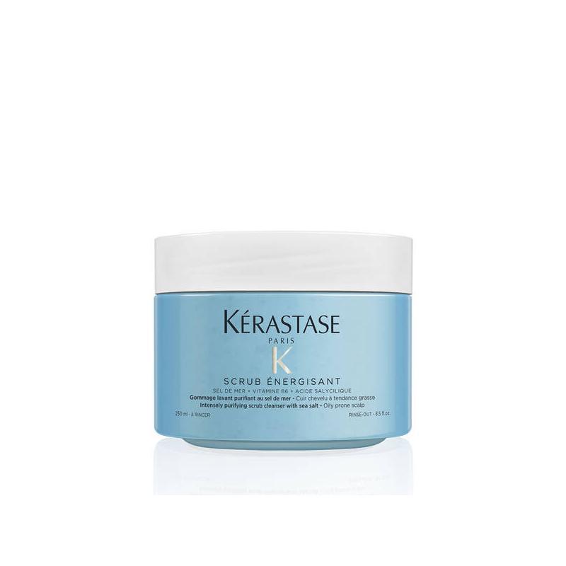 Gommage energisant Fusio-scrub Kerastase- traitement cuir chevelu sain-nettoie-tendance grasse ou pellicules