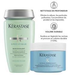 pack shampooing bain divalent et fusio scrub kerastase-pour cuir chevelu et cheveux gras-temoignage
