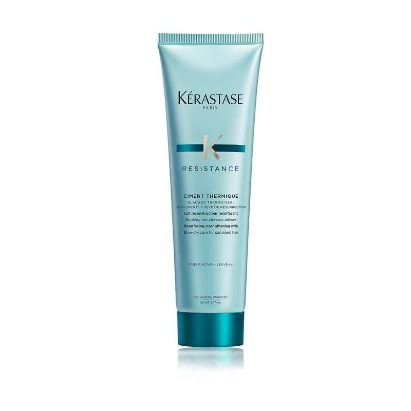 serum texturisant ciment thermique de kerastase-protection chaleur pour cheveux cassant-lait soin de brushing