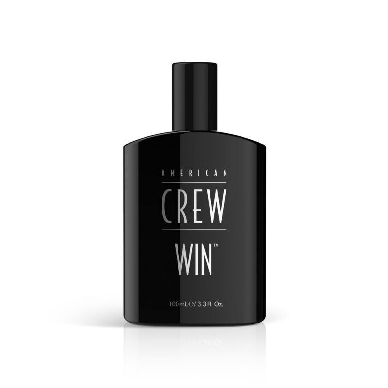 flacon de parfum pour homme de la marque American Crew du nom de WIN pour les gagnants