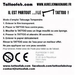 Le M Tattoo l'original- tatouage éphémère dos du produit