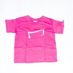 le mini M tee shirt rose fushia pour les petites filles de la marque Aurelien Magnano