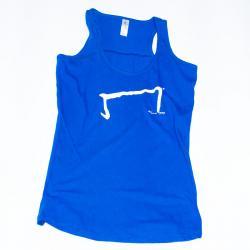 le M tee shirt débardeur bleu de la marque Aurélien Magnano