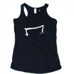 le M tee shirt débardeur noir de la marque Aurélien Magnano