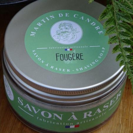pot de savon à raser artisanal à la fougère martin de candre