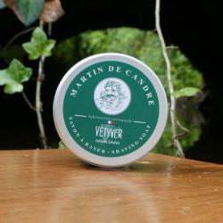 pot de savon à raser artisanal au vétyver serie limitee martin de candre
