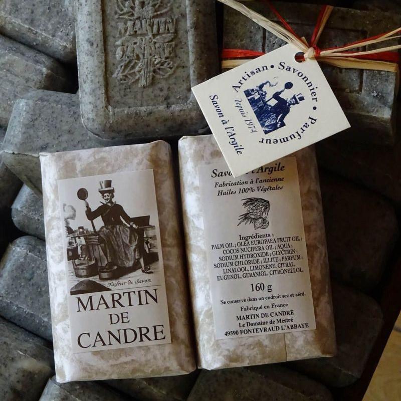 blocs de savon à l'argile verte martin de candre