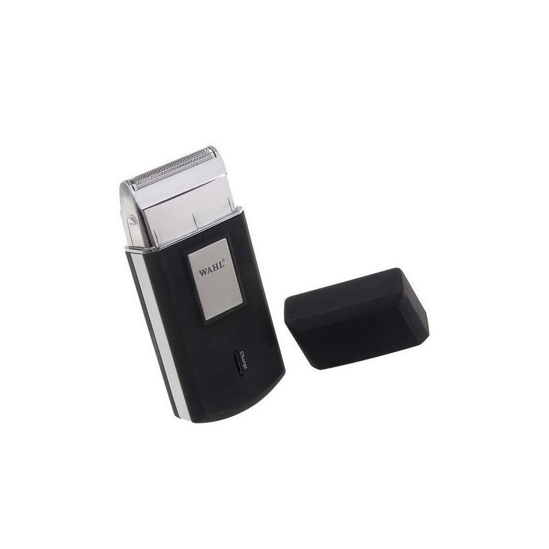 Le rasoir de voyage éléctrique Travel Shaver de la marque WAHL Professional chromé et noir