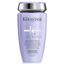 Kérastase Bain Ultra Violet Shampooing pigmenté violet anti faux-reflets pour cheveux blonds décolorés ou méchés