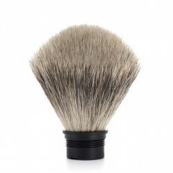 Recharge -tête de Pinceau de rasage-blaireau- MÜHLE, pur-gris, pour la série STYLO/PURIST/KOSMO