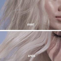 Avant et après le masque Ultra-violet Blond Absolu par Kérastase pot de 200ml