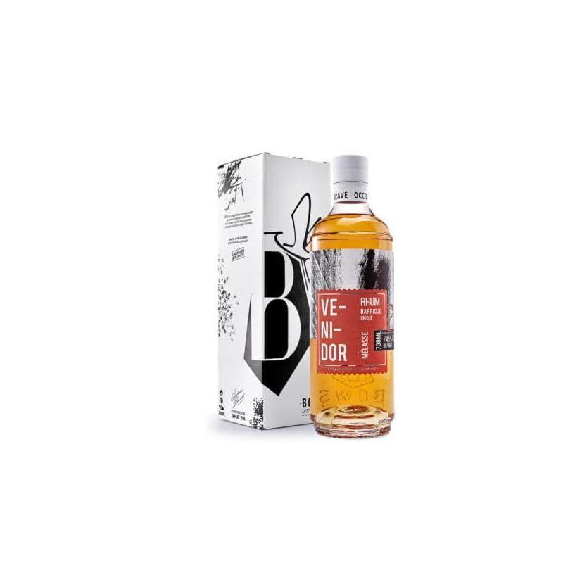 Rhum vieilli venidor-bows-distillerie avec sa boite-montauban-occitanie