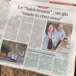 article de presse sur le gin saint amans - molière-mirabel-midi-quercy-montauban-occitanie