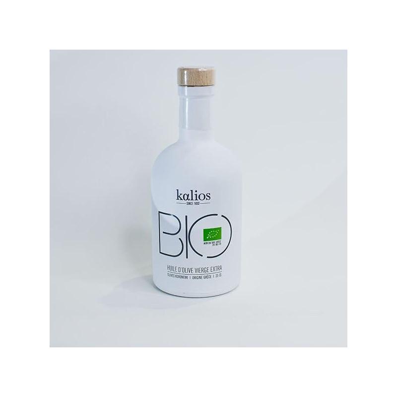 Bouteille d'huile d'olive Kalios Bio Juan Arbelaez 25 cl