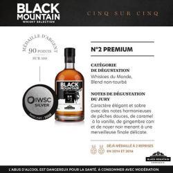 Whisky N°2 Premium-BLACK MOUNTAIN-medaille-argent-iwsc-fiche-technique