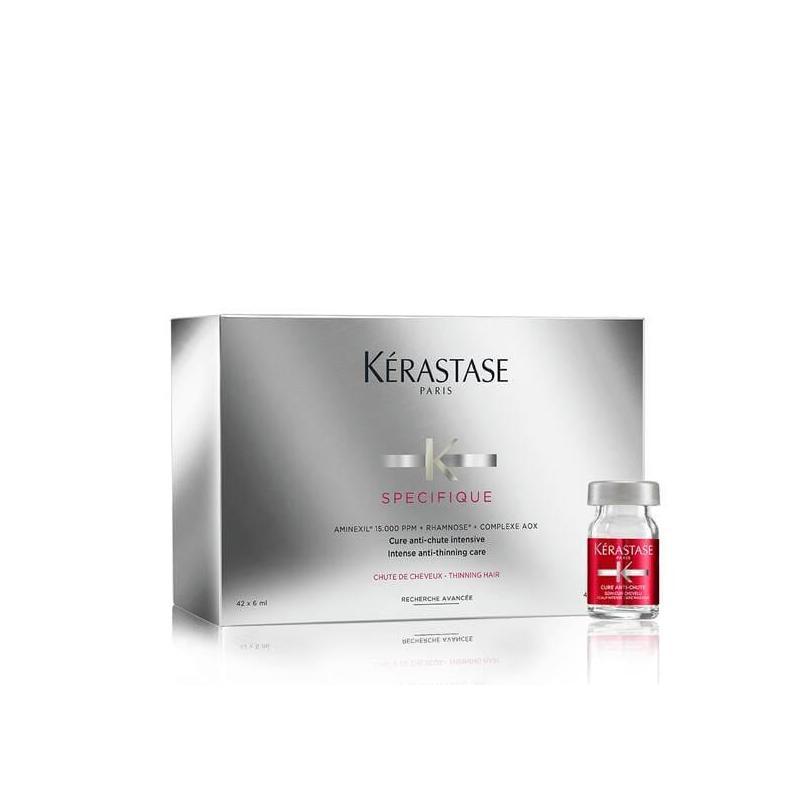 Cure de traitement anti-chute de cheveux à l'aminexil par Kérastase