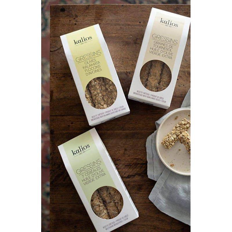 Kit Gressins Crétois pour l'apéritif ou le petit déjeuner   KALIOS Les 4 Recette Crétoise