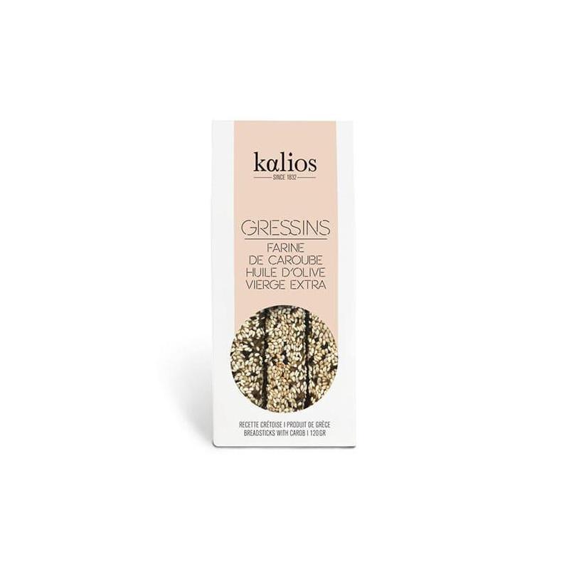Gressins Farine de Caroube et graines de sésame -KALIOS