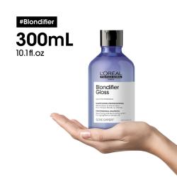 série expert L'oréal professionnel-shampoing blondifier gloss restaurateur et illuminateur pour cheveux blonds ou méchés-300ml