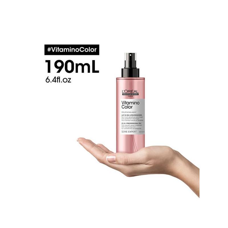 3474636974368-loreal-vitamino-color-lait-spray-10-en-1-sur une main
