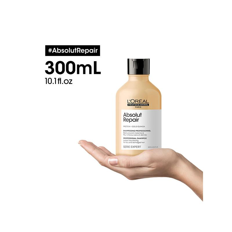 3474636974221-shampooing-absolut-repair-l-oreal-professionnel-300ml-cheveux-secs-abimes-sur-une-main