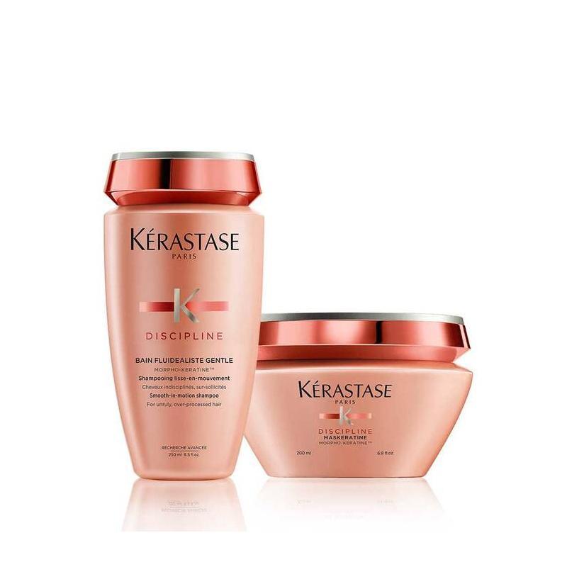 Duo de soin Kérastase-shampooing et masque-bain discipline-maskeratine-fluidéaliste