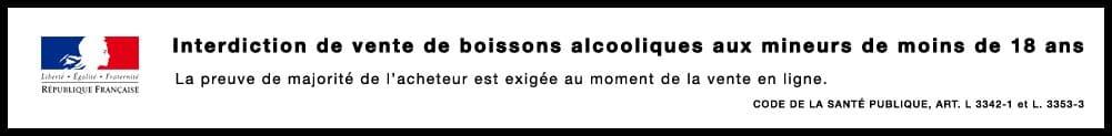 message de prévention vente interdite d-alcool aux moins de 18 ans-mineurs-